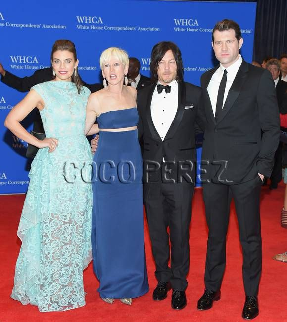 White House Correspondents' Dinner 2015: Norman Reedus, Lauren Cohan, Joanna Coles, and Billy Eichner walk the red carpet.