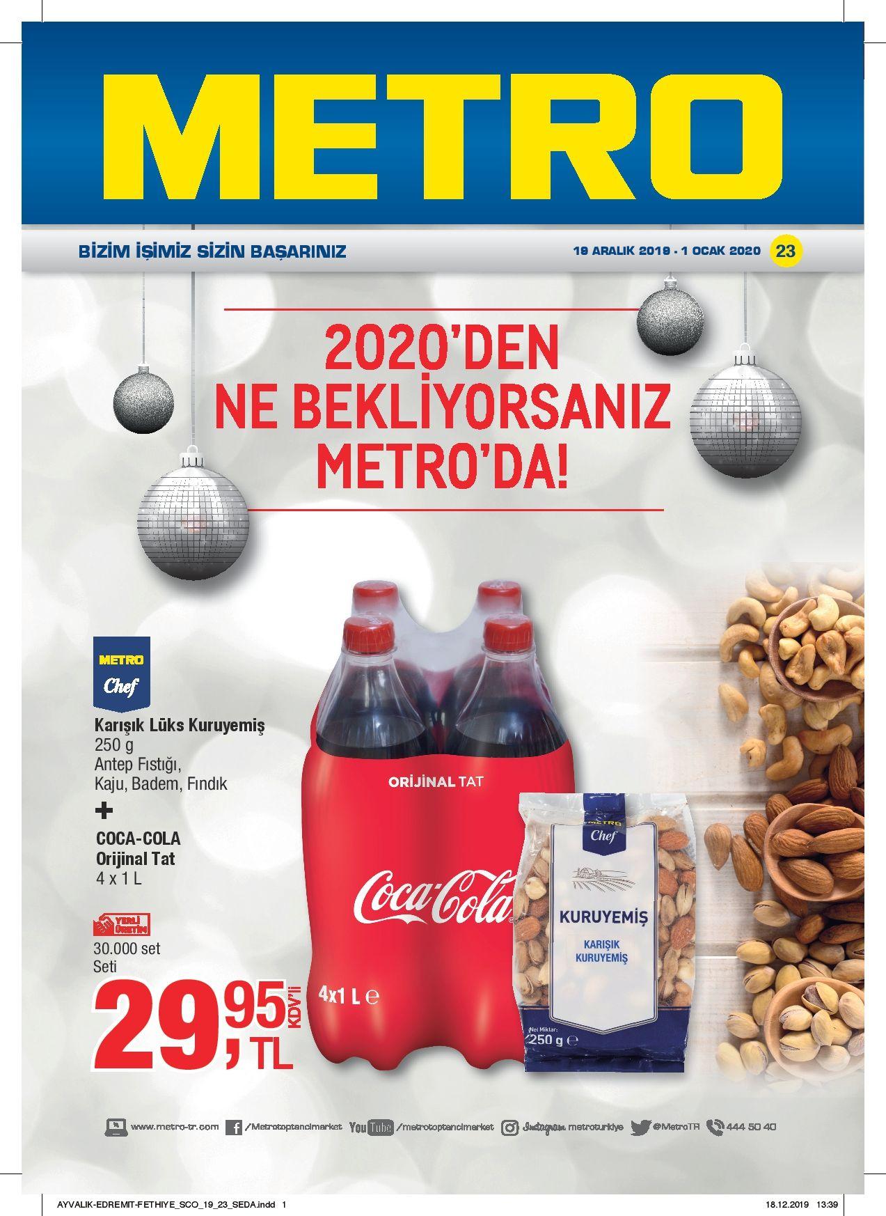 Metro Aktuel Urunler Katalogu 19 Aralik 2019 1 Ocak 2020 Ayvalik Edremit Fethiye Indirim Ka Gida Guvenligi Urunler Ocak