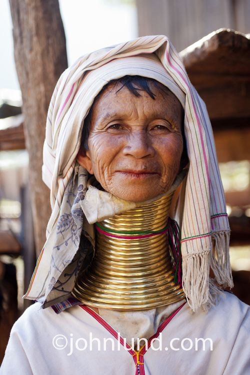 This woman had never seen westerners before (I ... African Neck Rings Before And After