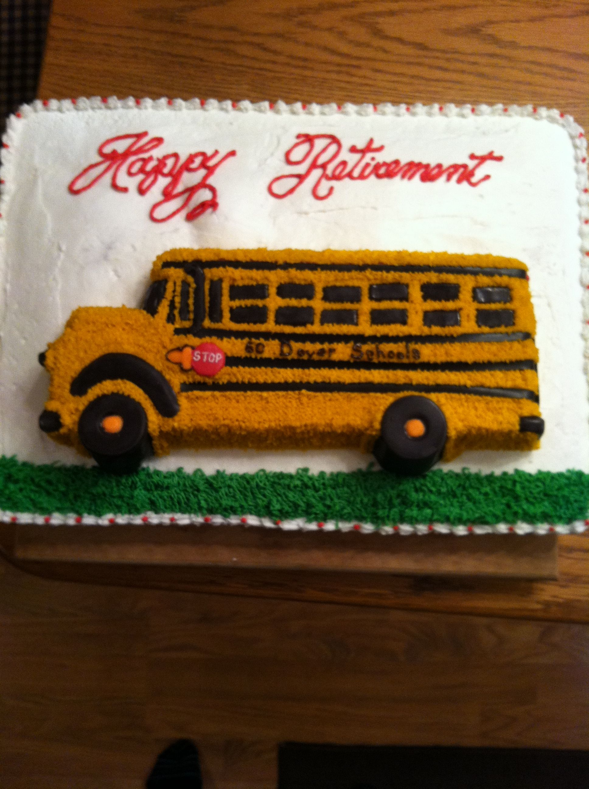 Bus Cake Sheet Cake On Bottom Shaped Bus Cake On Top Wheels