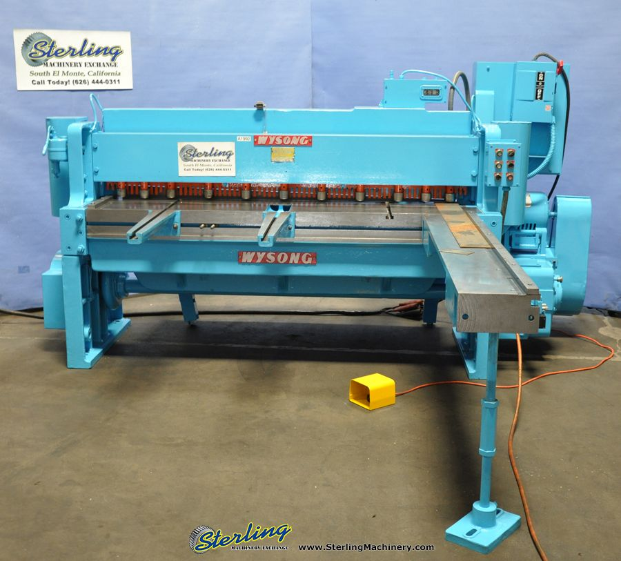 Used Wysong Power Square Shear Sterling Machinery Hydraulic Press Brake Press Brake Metal Working