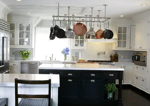 Off White Kitchen Cabinet off white kitchen cabinets with black island | home | pinterest