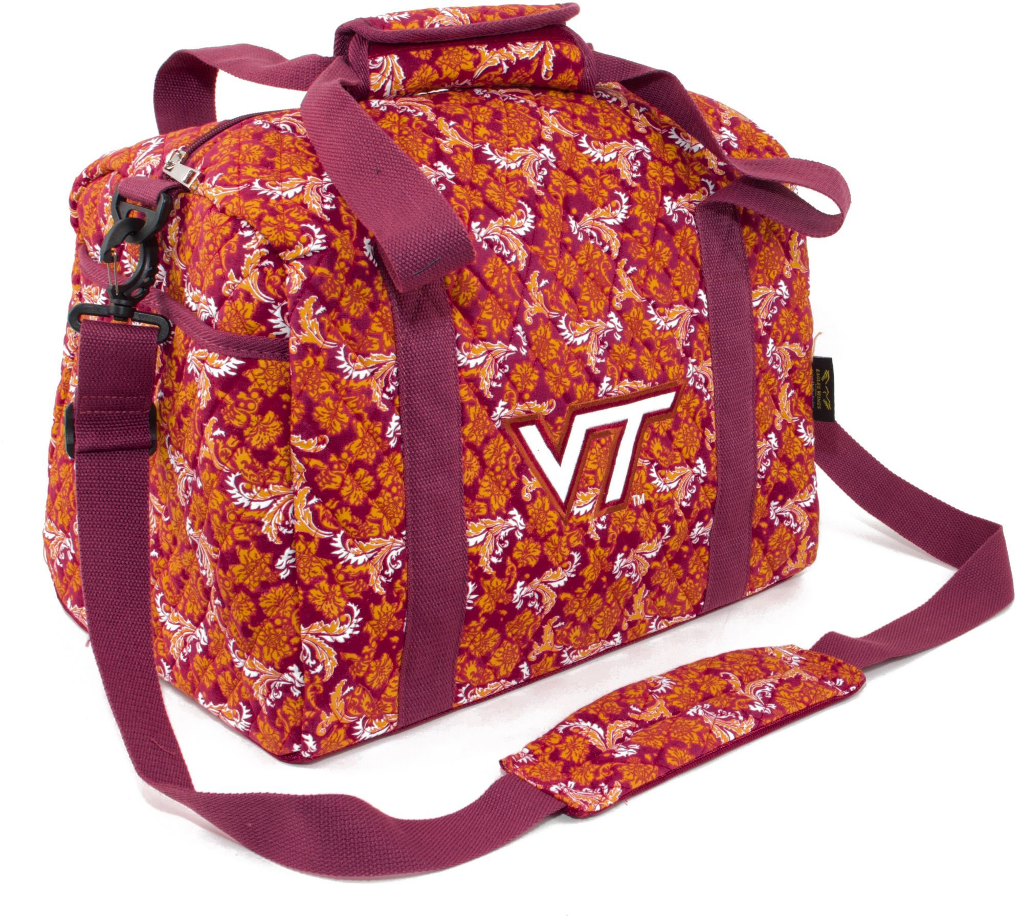 dcf47645f18e Wings Virginia Tech Hokies Quilted Cotton Mini Duffle Bag | Products ...