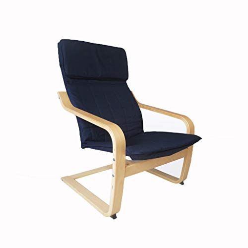 Relax Lounge Seat Chaise Deck Leisure Camping Chair Wooden Easy To Disassemble Adult Balcony Bedroom Office Blue Weight 120kg