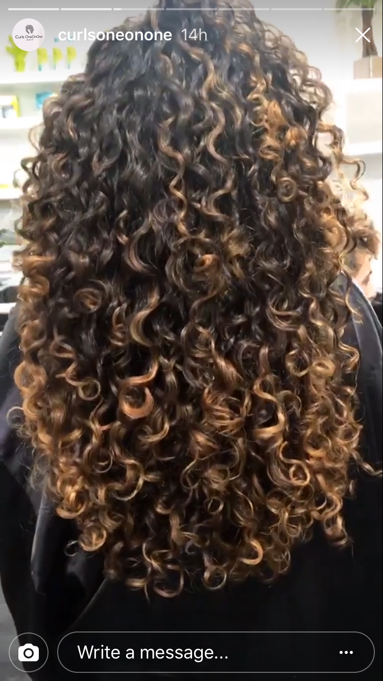 Curly Hair Highlights H A I R Pinterest Curly Hair Goals And