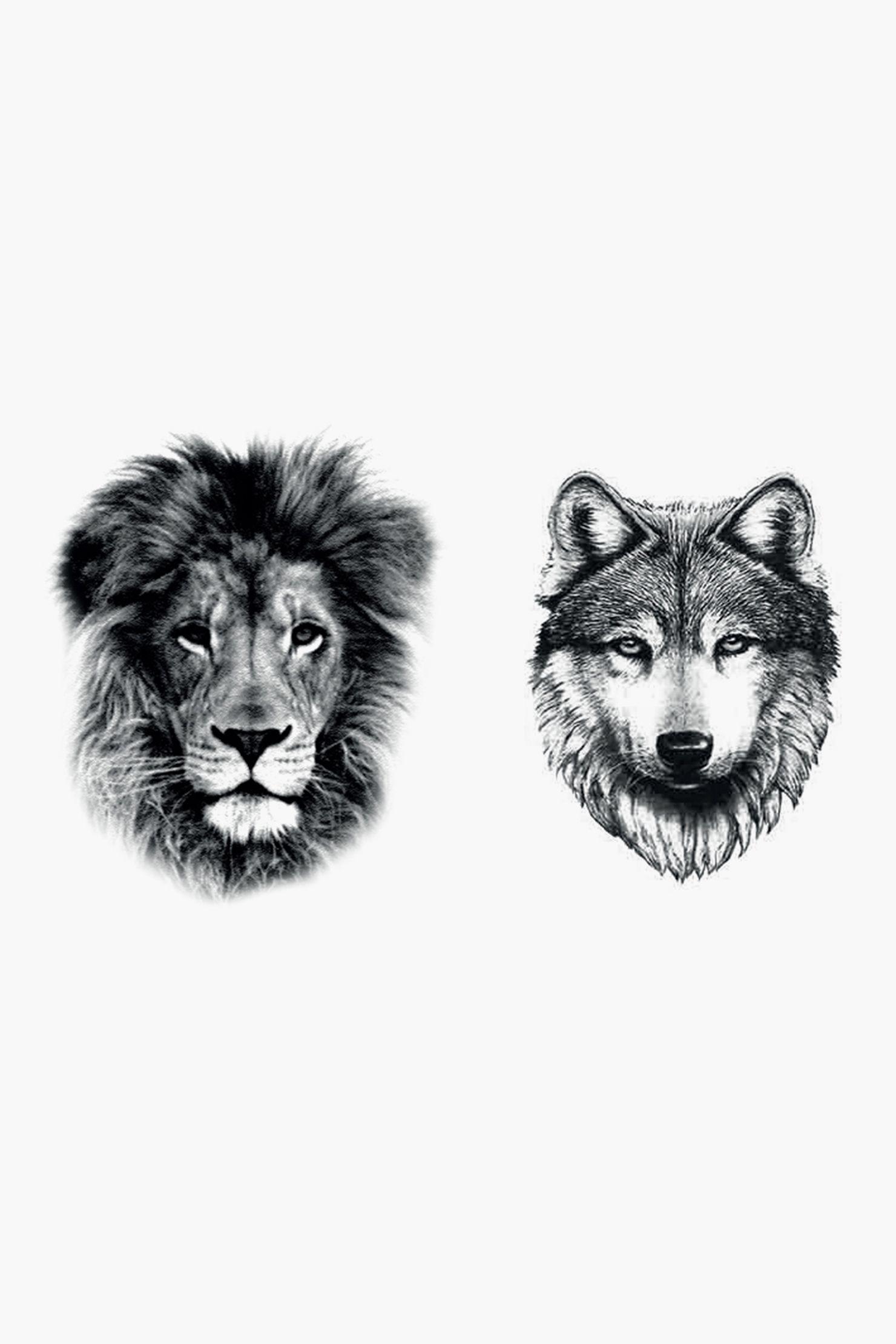 Tatoos - wolf lion tattoo - Black - Dcer   Tatoos   Pinterest
