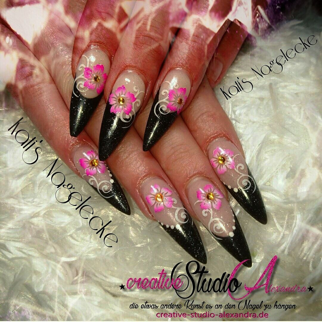 My Stiletto Nails Airbrsuh #nails #nageldesign #mynails ...