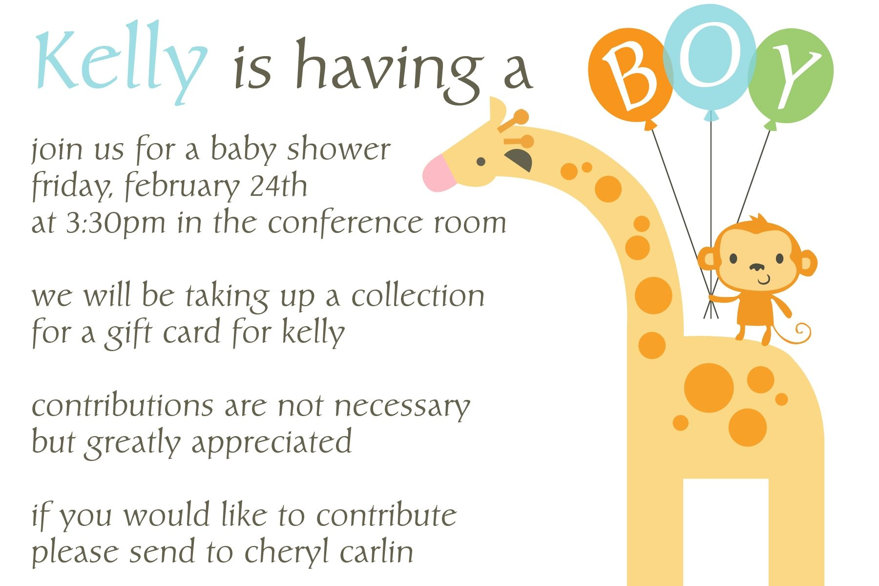 Office Baby Shower Invitation Wording Samples | http://atwebry.info ...