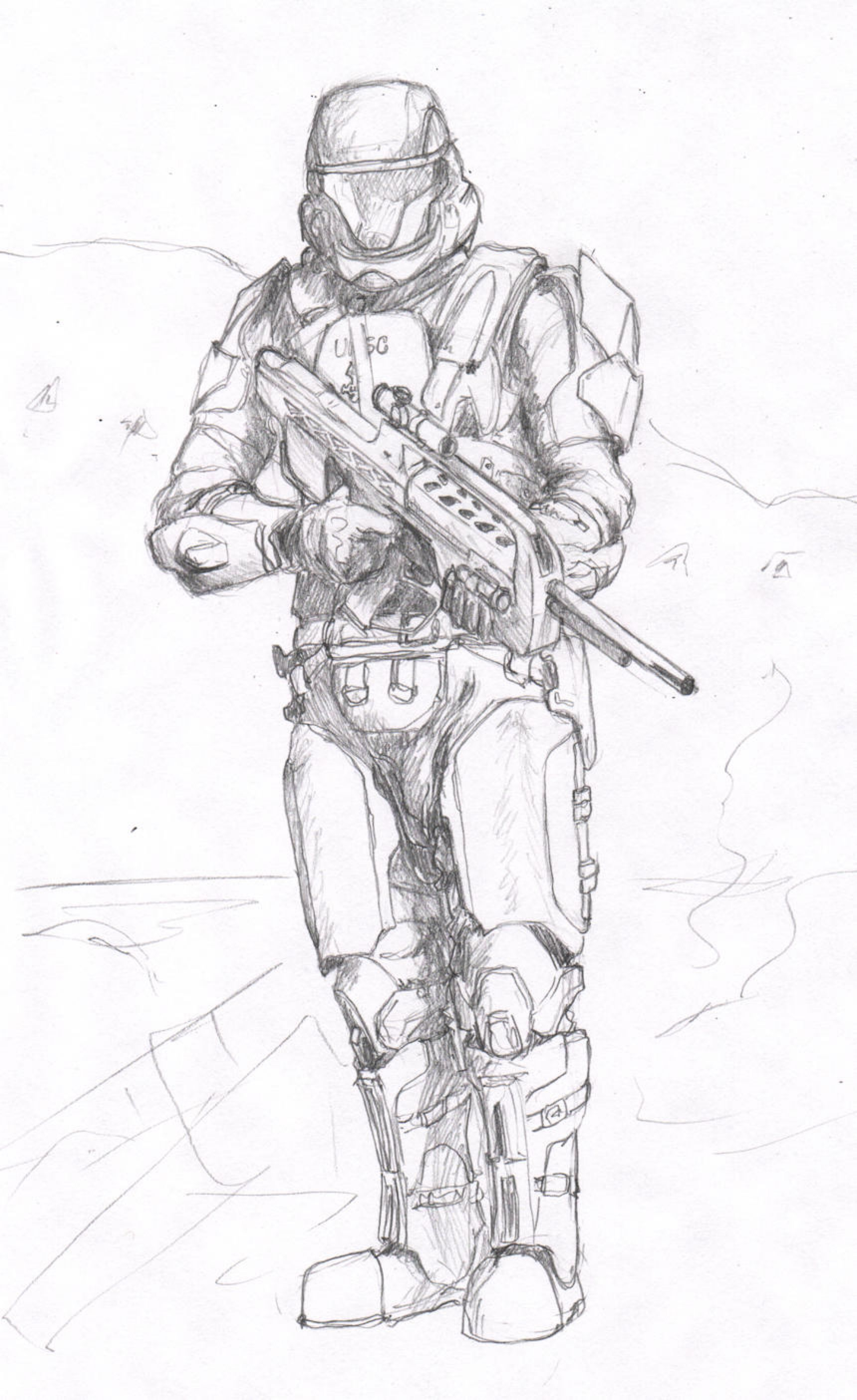 Odst By Vivd89 On Deviantart Halo Drawings Deviantart Art