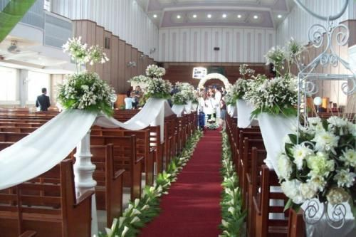 Church Wedding Floral Arrangement