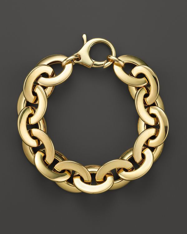 Roberto Coin 18K Yellow Gold Flat Oval Link Bracelet - Bloomingdale's Exclusive