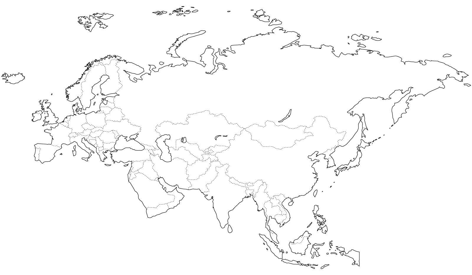 Mapa Mudo Rios Europa Blanco Y Negro.Pin En Continentes