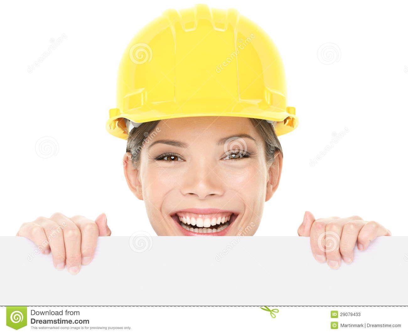 Trabajador De Construcción/mujer Del Ingeniero Que Muestra La ...