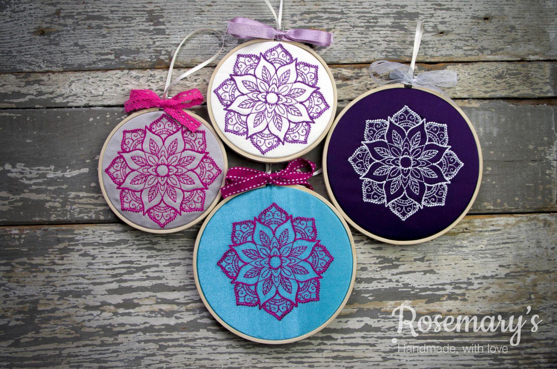 Indian Flower Sunburst Embroidery Hoop Https Www Etsy Com Uk