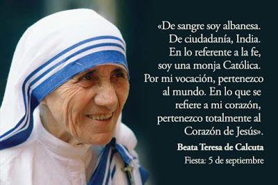 Madre Teresa De Calcuta Frases De Paz Buscar Con Google