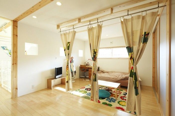 Contemporary Home Design, Cool Kids Loft Bedroom : Unique Japanese House  Design With The Amazing