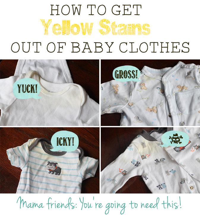 How to Get Yellow Stains Out of Baby Clothes After Storage - IT WORKS!