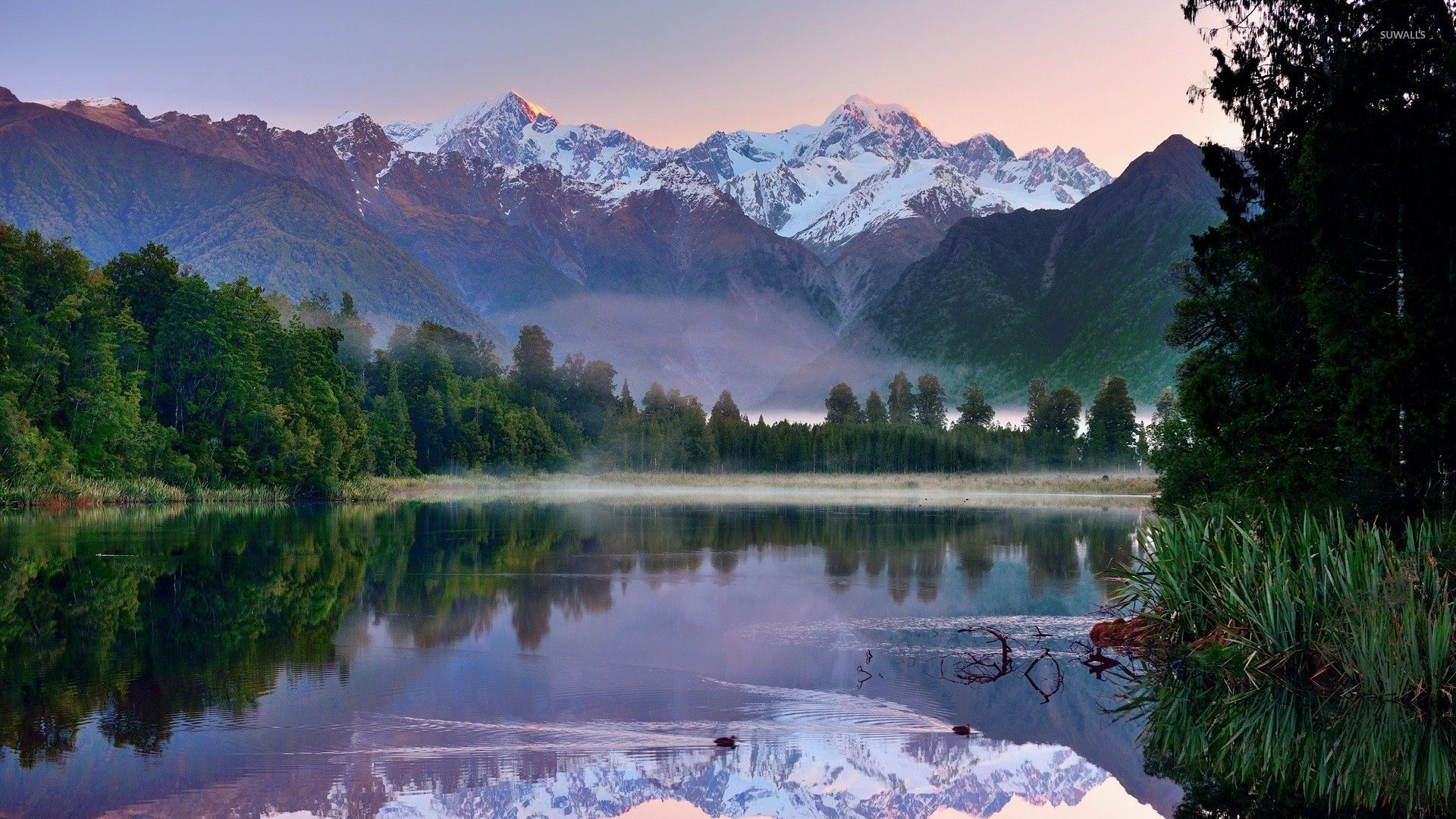 New Zealand Mountains Mountain Lake In New Zealand Wallpaper Nature Wallpapers In 2020 New Zealand Lakes Lake New Zealand Landscape
