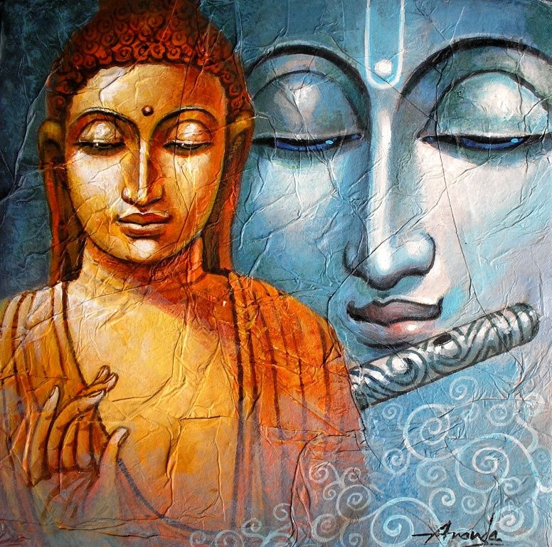 You are all buddhas there is nothing you need to achieve for Buddha mural art