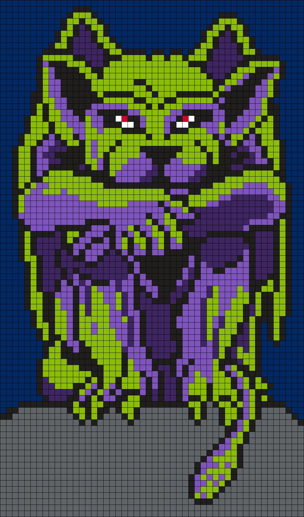 Gargoyle Perler Bead Pattern Bead Sprite Pixel Templates