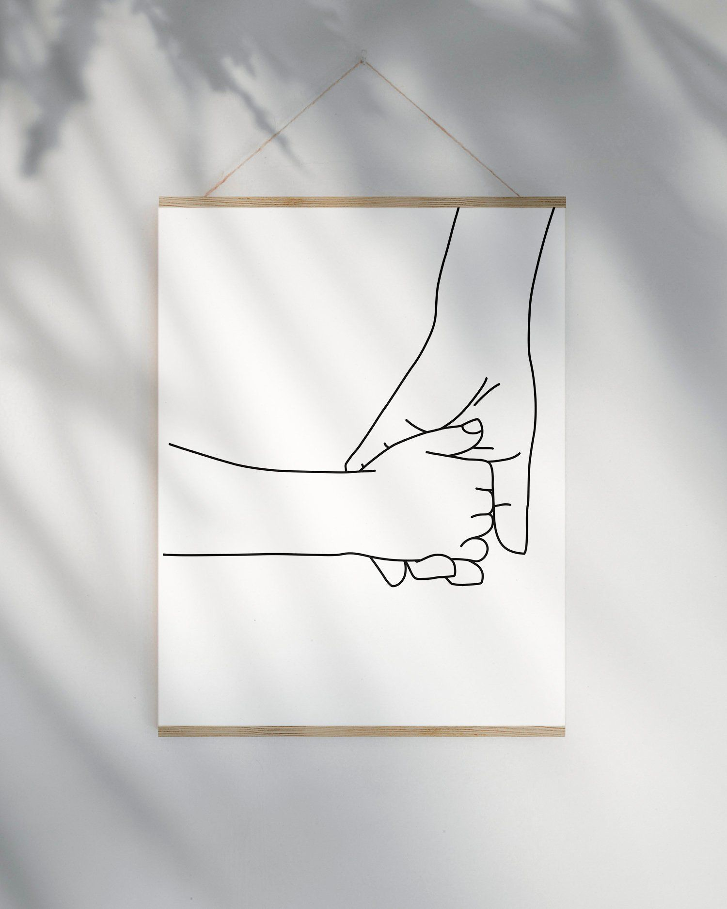 Holding Hands Line Art Printable Minimalist Nursery Prints Etsy In 2021 Hand Lines Mom Art Printable Art