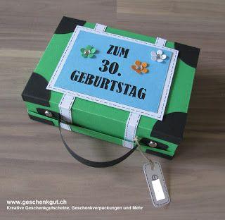 Reisekoffer Koffer Geschenkgutschein Geldgeschenk Reise