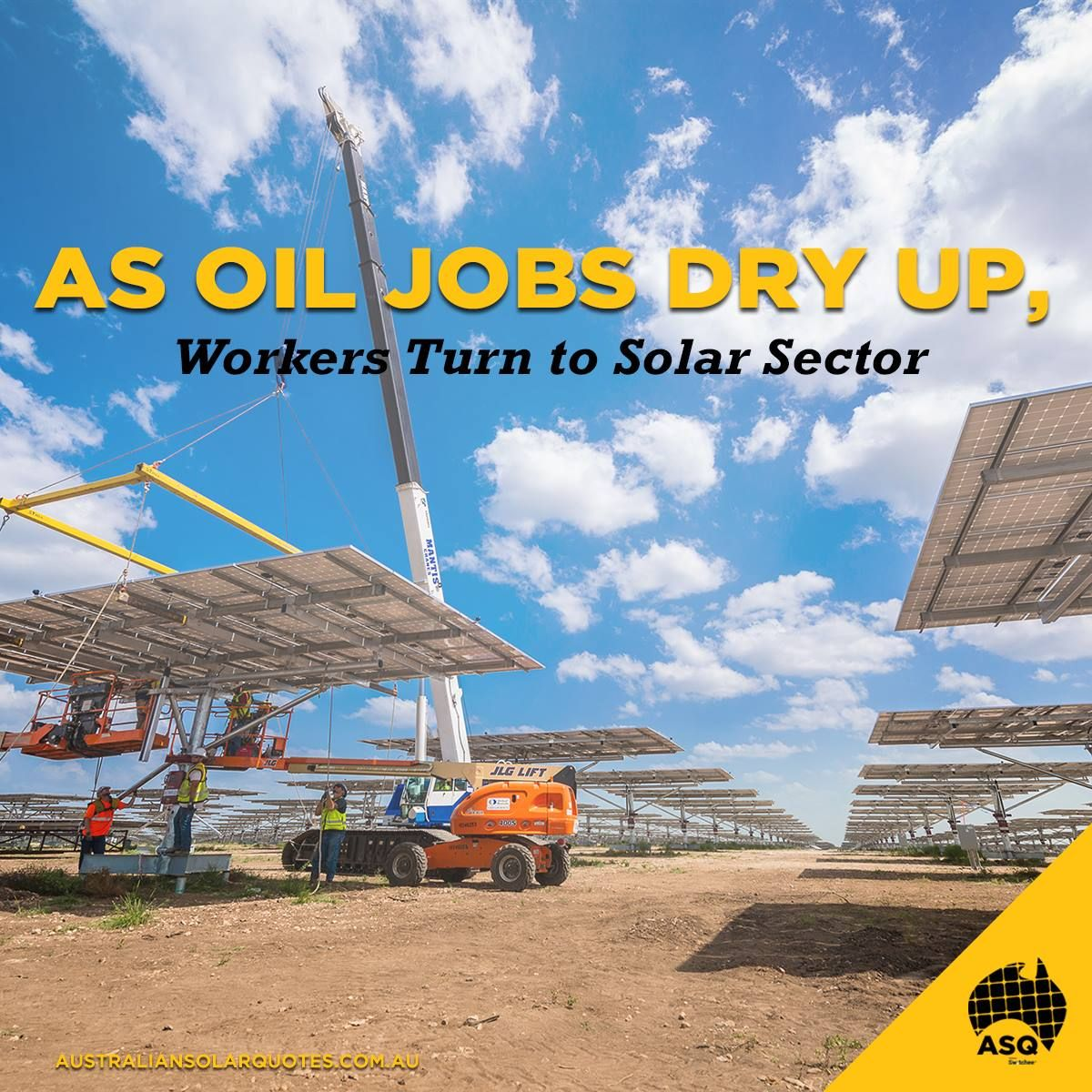 Burgeoning #solar projects offer opportunities for out-of-work rig hands, roustabouts and pipe fitters | http://asq.site/gj6pi #ASQ