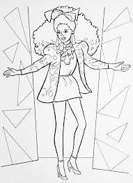 Barbie 80s Colouring Pages Rock Star Google Search Barbie Coloring Pages Barbie Coloring Mermaid Coloring Pages