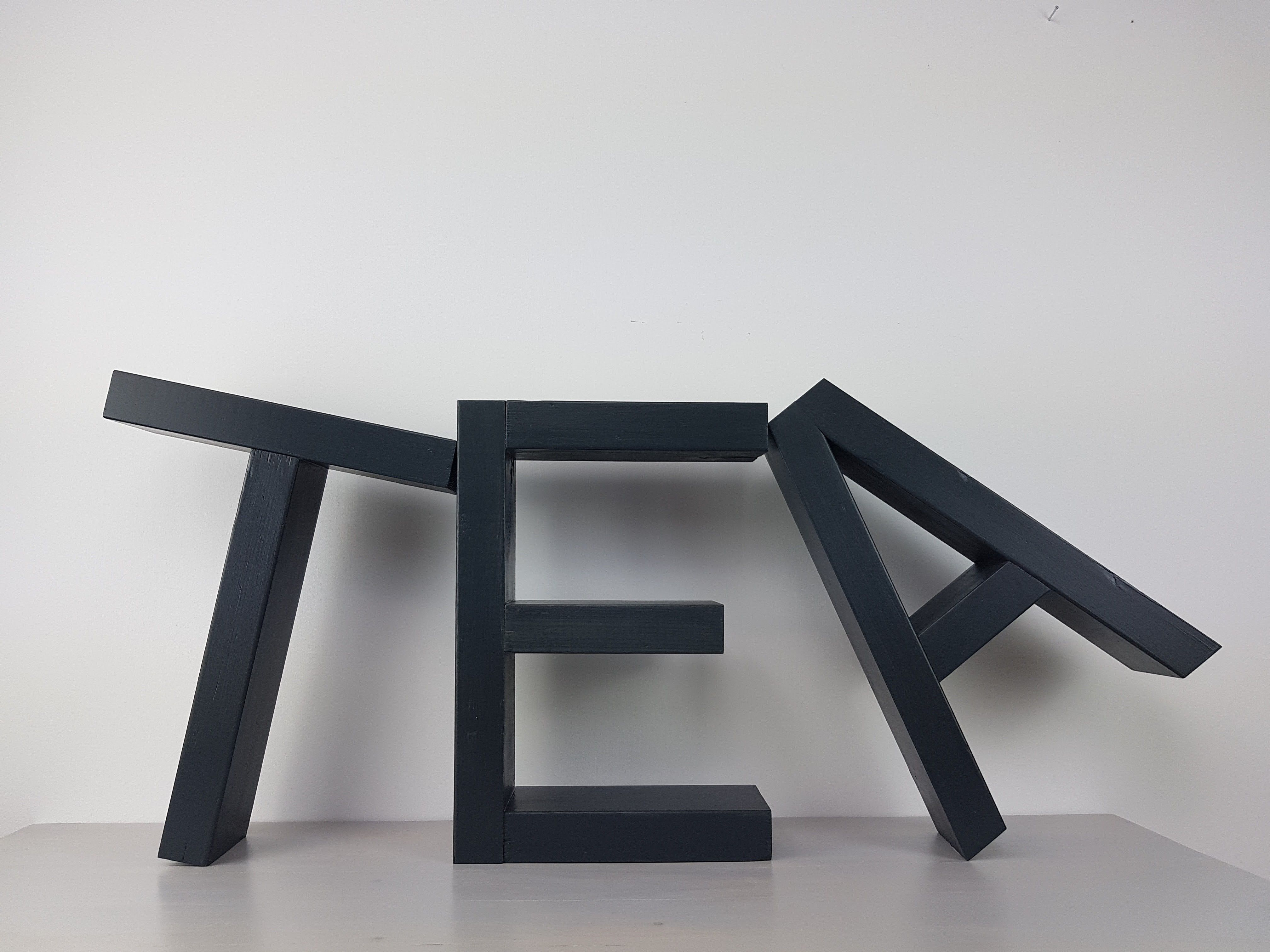 DIY Deko Regal EAT oder TEA Holzbuchstaben, Einzelstück, Unikat ...