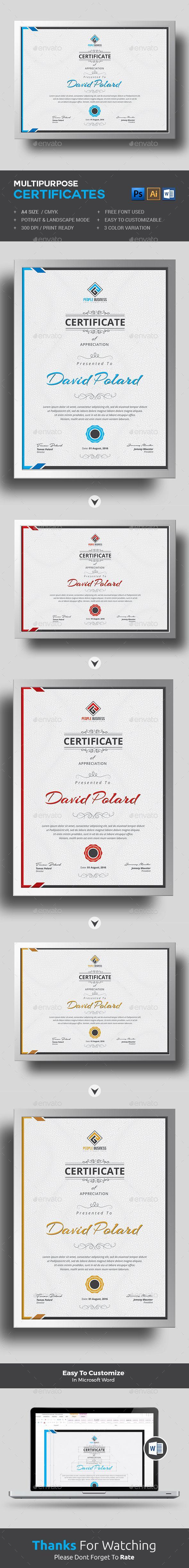 Certificate Ai Illustrator Certificate And Template