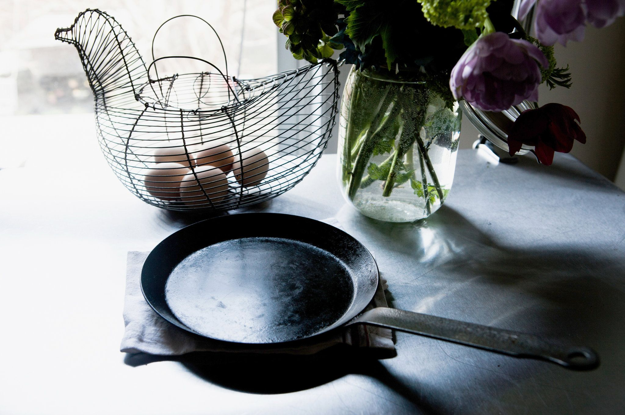 hannah kirshner of sweets u0026 bitters and her omelet pan for the