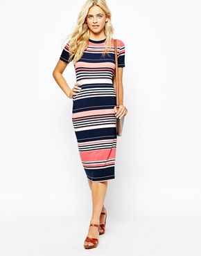 88c352795bd Oasis Stripe Midi Dress