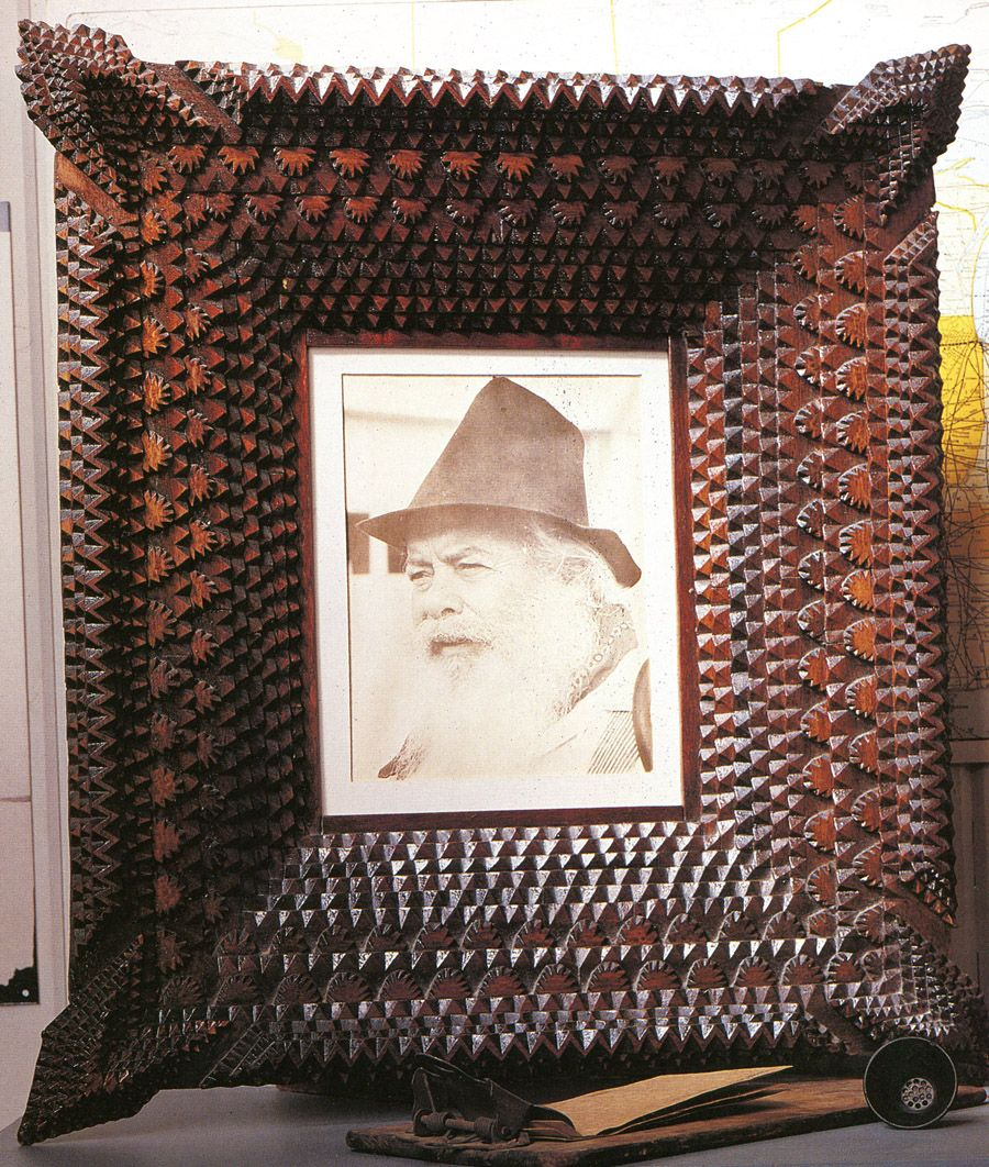 17 best images about tramp art stickly lodge frames on pinterest folk art oil on canvas and furniture