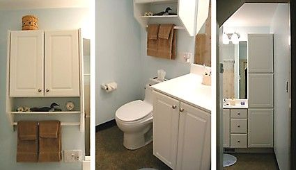 Small Cabinet Over Toilet Vanity With Sink And Under