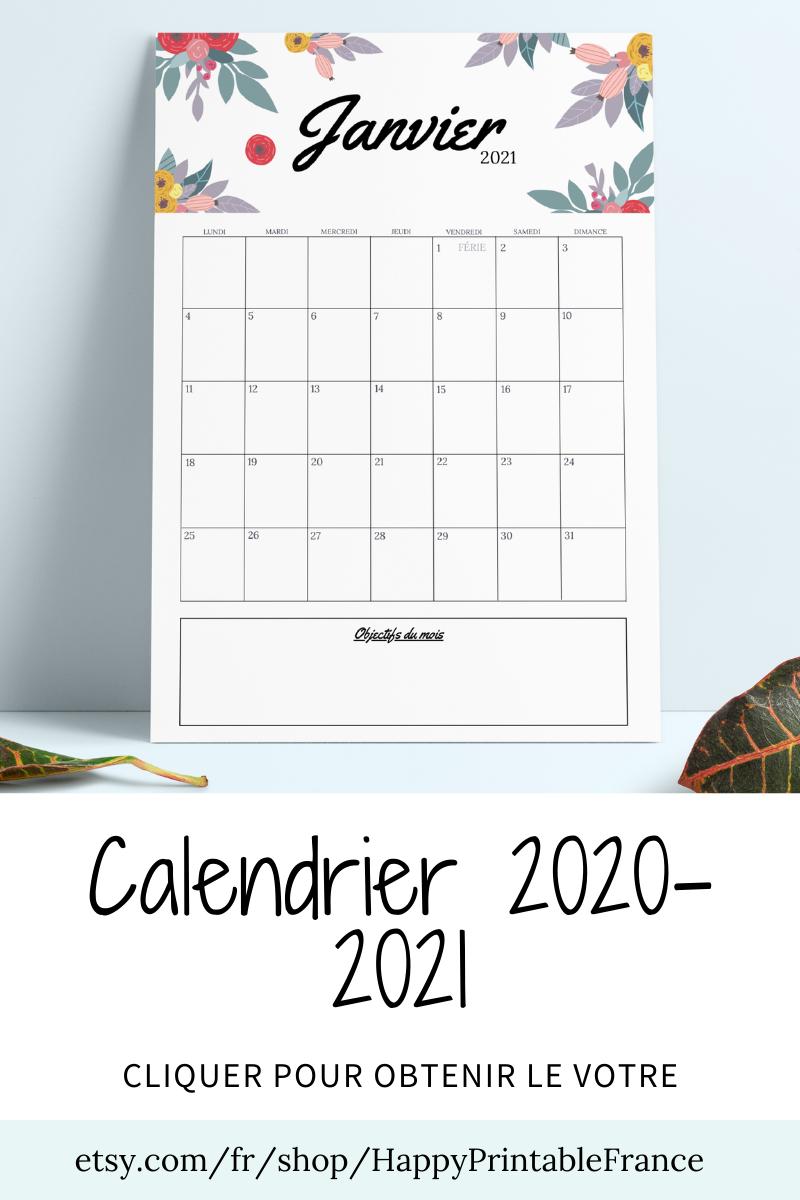 Calendrier De Laprès 2021 Calendrier mural 2021 2022  Agenda 2021 2022   PDF Portrait Motif