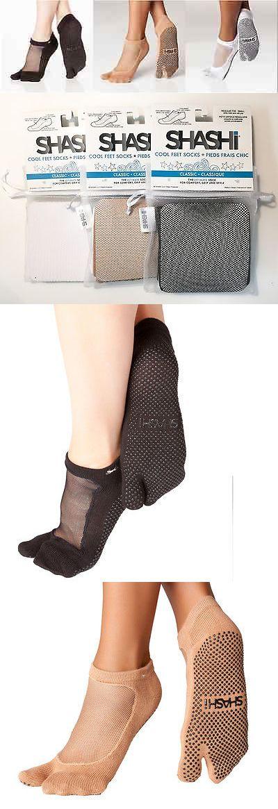 Socks 66078: Shashi Mesh Non-Slip Splittoe Fitness Socks For Pilates Barre Yoga Medium 3 Pack -> BUY IT NOW ONLY: $42.99 on eBay!