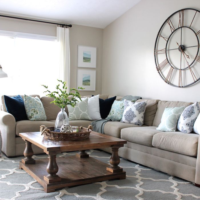 Tan Sectional Source Tan Couch Living Room Living Room Furniture Layout Interior Design Living Room