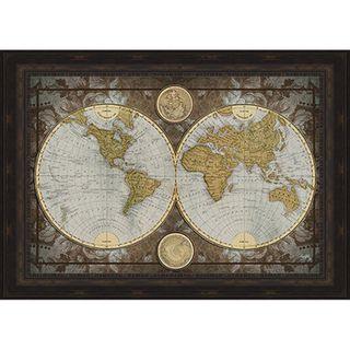 Elizabeth medley world map framed print overstock shopping elizabeth medley world map framed print overstock shopping top rated prints gumiabroncs Image collections