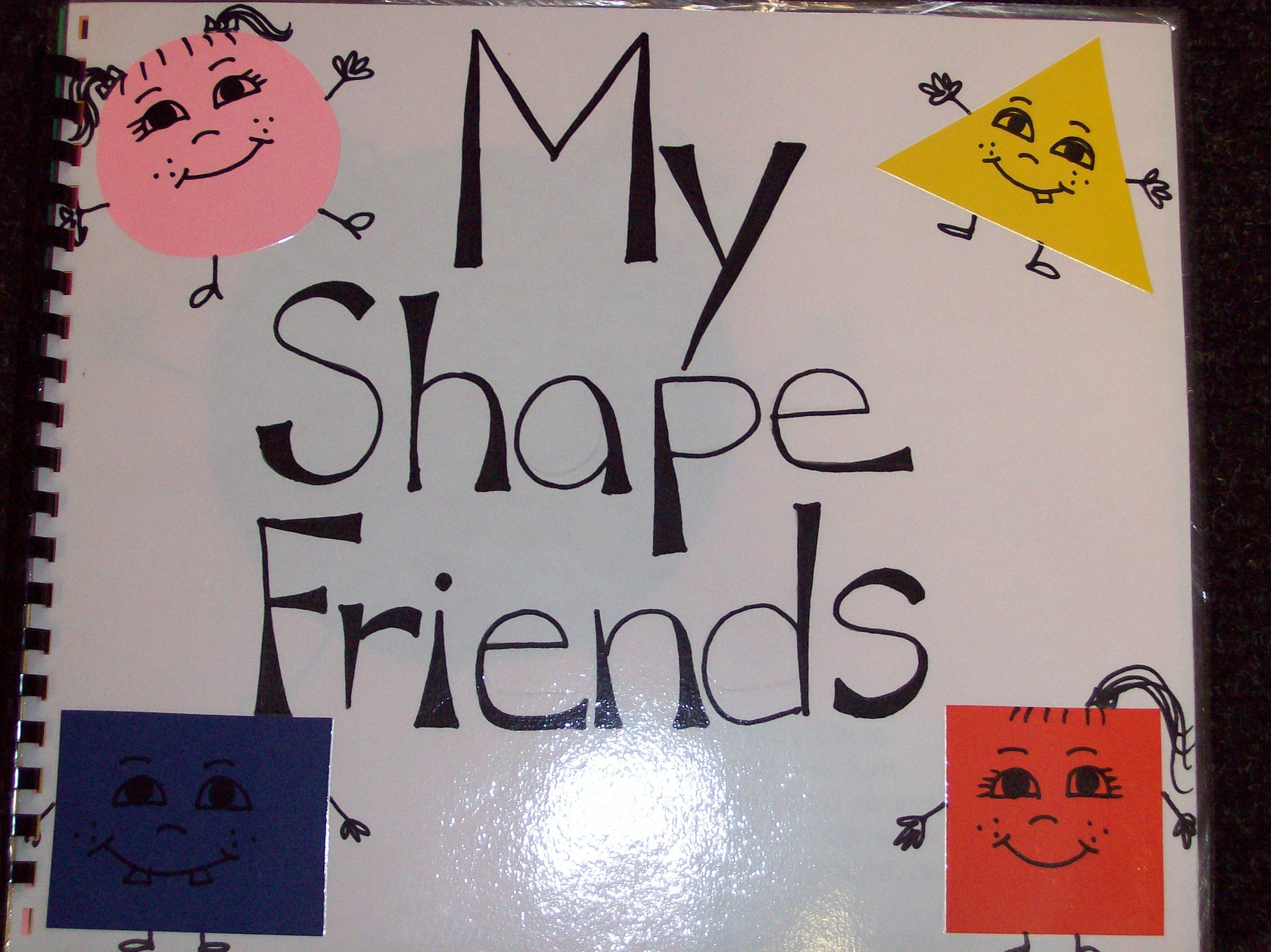 Math My Shape Friends Book Example Of On Of The Shape