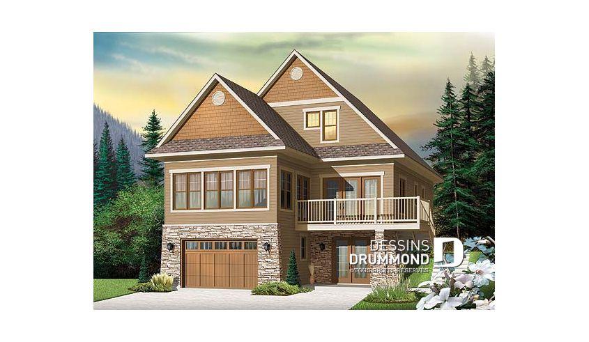 Plan de maison unifamiliale Baldor 2 No 4916-V1 Chalet