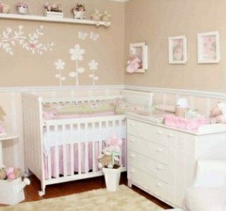 Decoracion habitacion bebe nias Cosas para bebe Pinterest