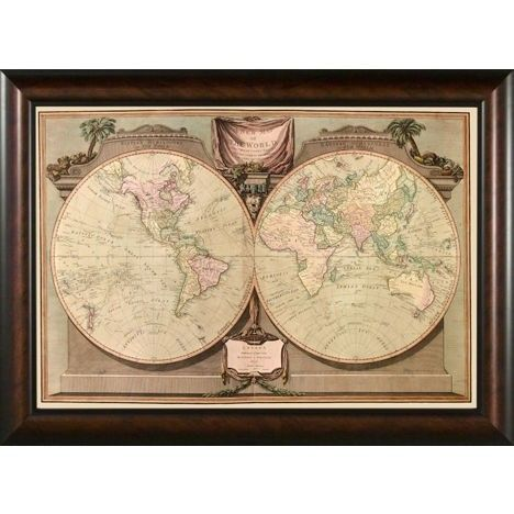 Phoenix galleries world map 1808 framed print hp685 framed art phoenix galleries world map 1808 framed print hp685 framed art wall art sciox Gallery