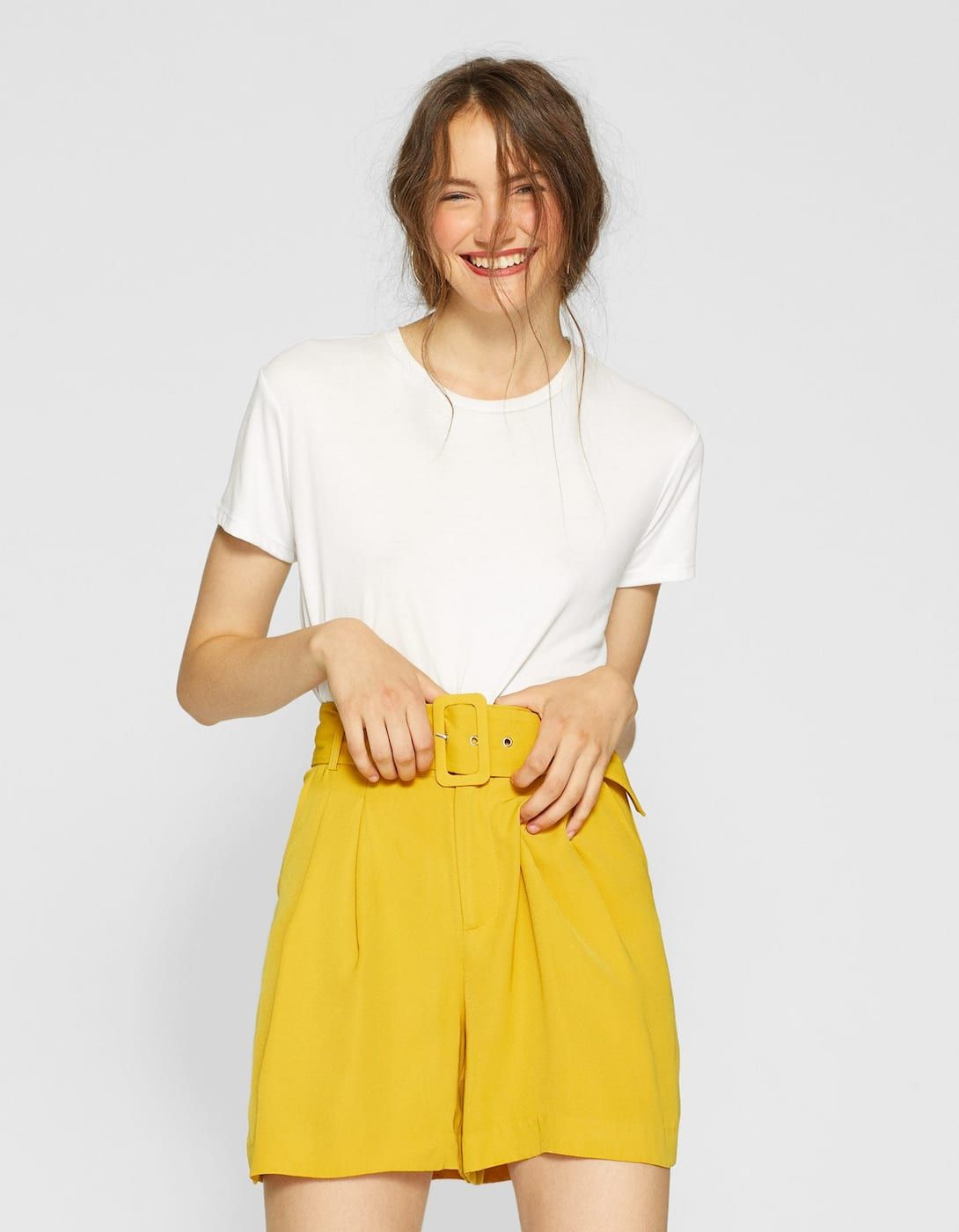 8d91d3890d0 Belted Bermuda shorts | Things to wear | Bermuda Shorts, Blazer ...