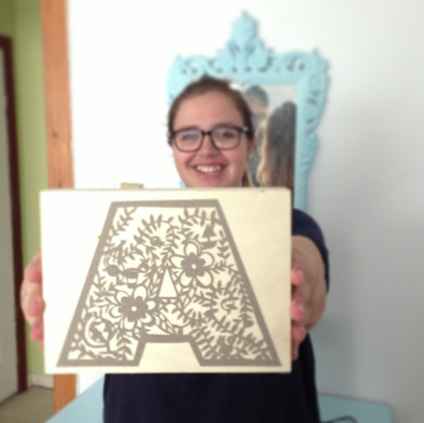 A is for Anna By Zoe Maire https://www.facebook.com/zoemairepc Paper Cutting - A - Sister - Anna