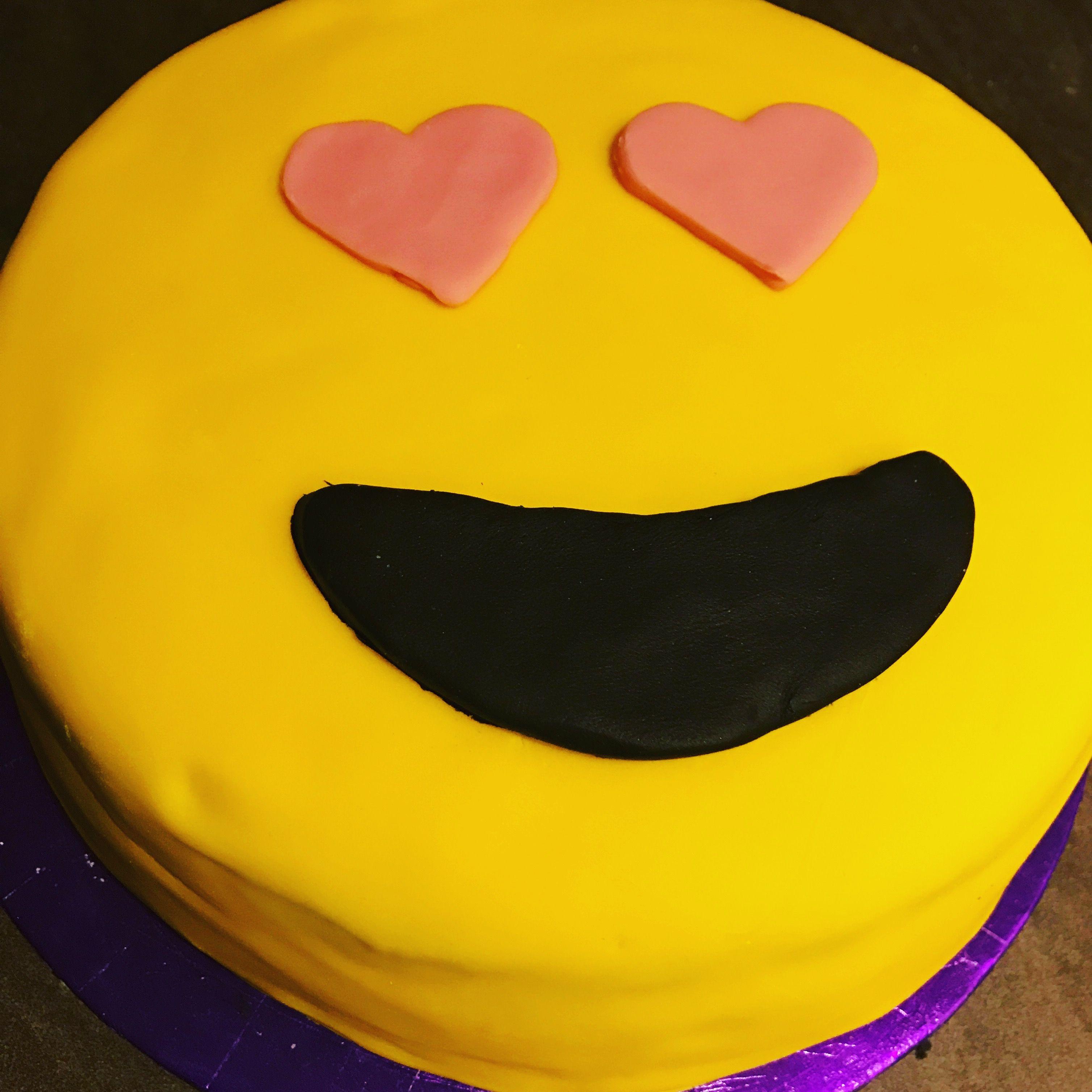 Emoji Kids Birthday Cake With A Little Help From Tesco Fondant