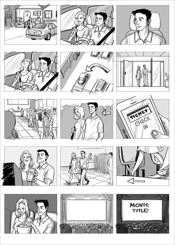 Sample Commercial Storyboard Template Freeg 585819