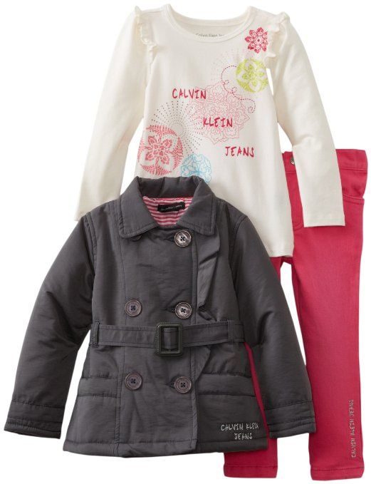 e39d82120b2c Calvin Klein Girls 2-6X Toddler Jacket With Tee And Pink Jean ...