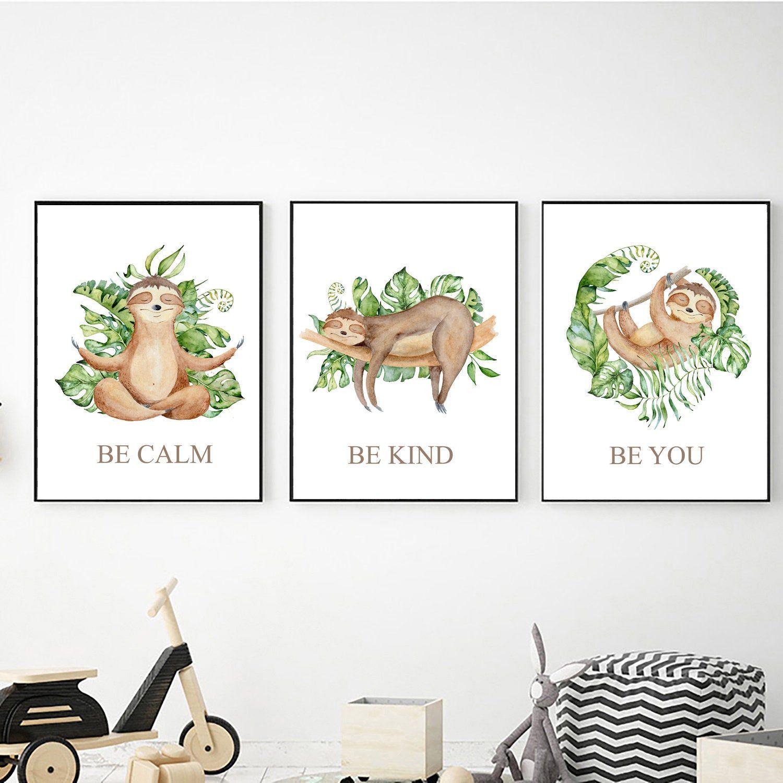 Sloth nursery prints, Digital download, Sloth decor, Baby sloth print, Sloth print, Sloth printable art, Nursery decor, Cute sloth print #babysloth