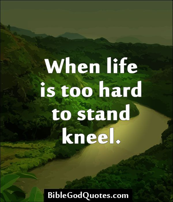 Quotes From The Bible About Life Custom Httpbiblegodquoteswhenlifeistoohardtostandkneel