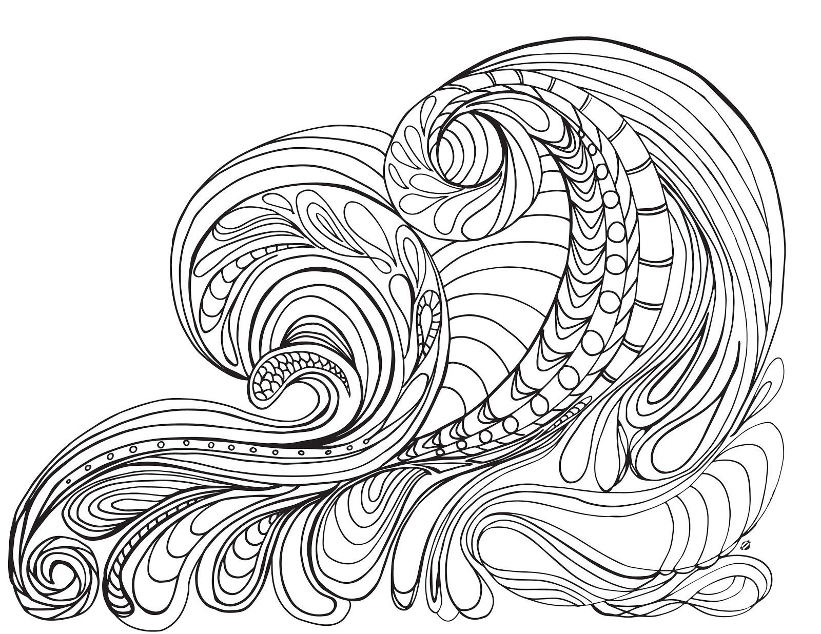 Coloring Pages Of Ocean Waves - Coloring Style Pages | Costal Dreams ...